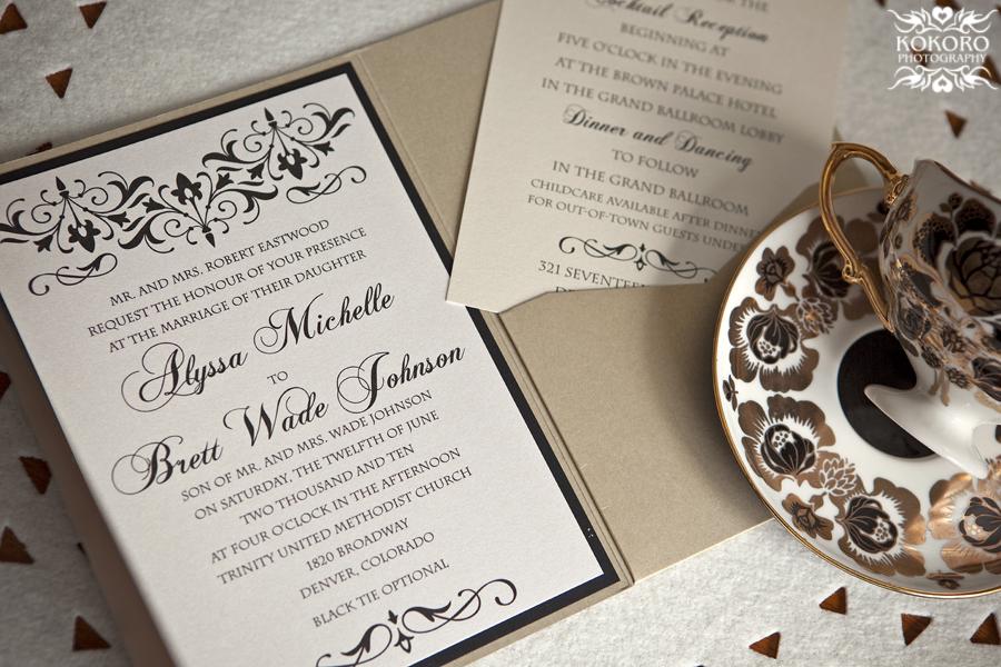 Alyssa and Brett's Wedding Invitations