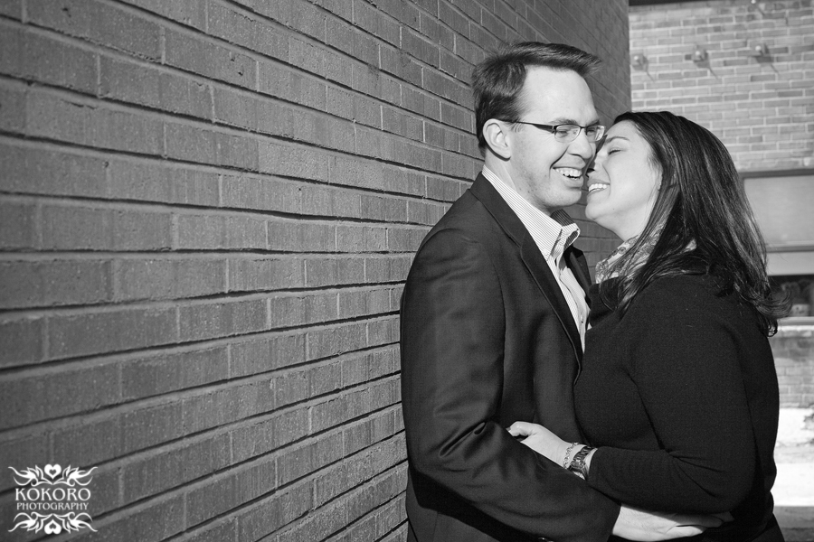 Janine and Chuck - Colorado Engagement Session in Downtown Littleton