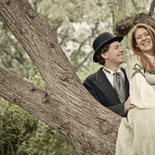 Sarah and Matt - An Old Fashion Engagement Photos at Cheeseman Park