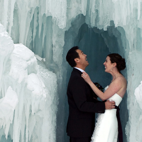 Theresa and Jaryd- Silverthorne Ice Castle
