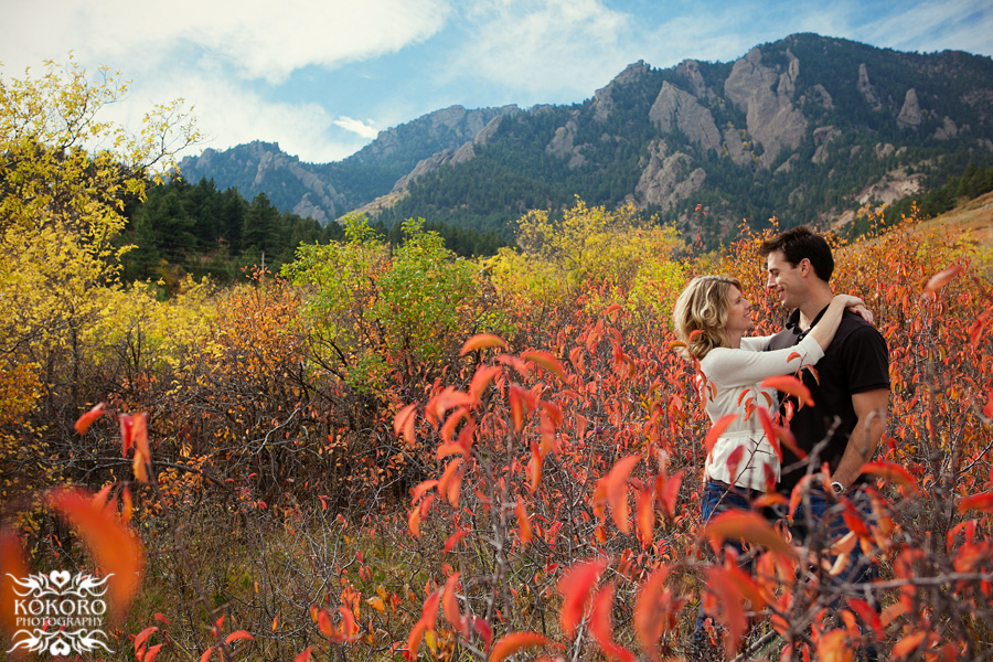 Engagement Pictures with the Flatirons