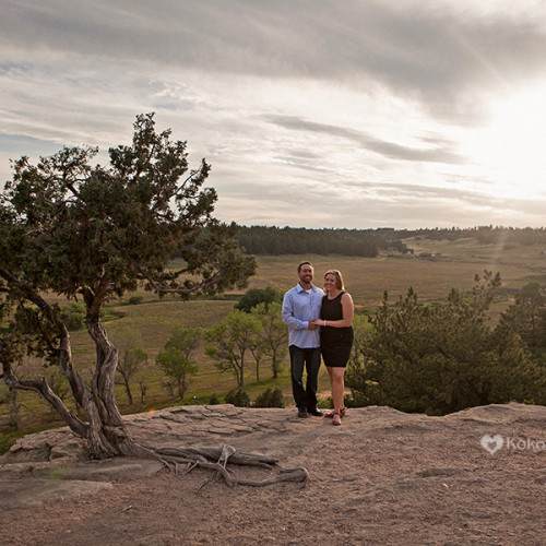 Sarah and Dave- Castlewood Canyon Engagement Session