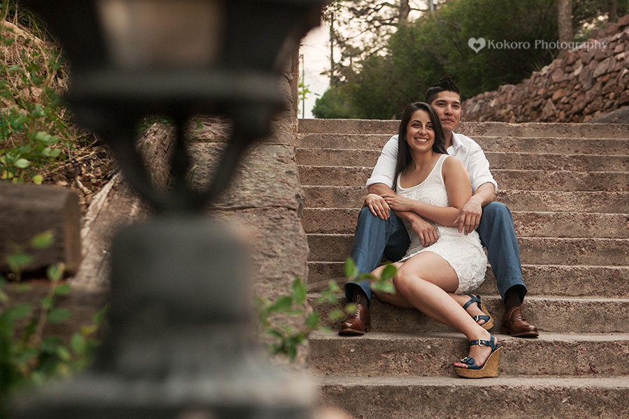 Salome and Julian- Manitou Springs Arcade Engagement Session