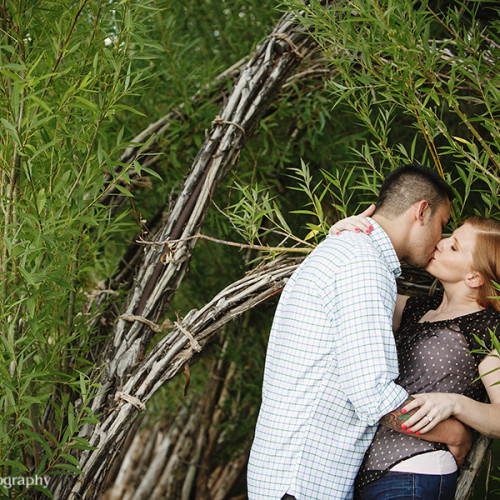 Elizabeth and Steven- Engagement Session at the Museum of Outdoor Art