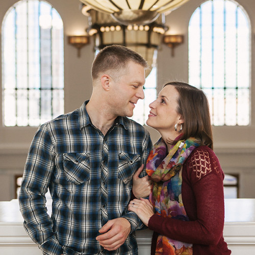 Elizabeth Ann & Eric- Union Station Engagement