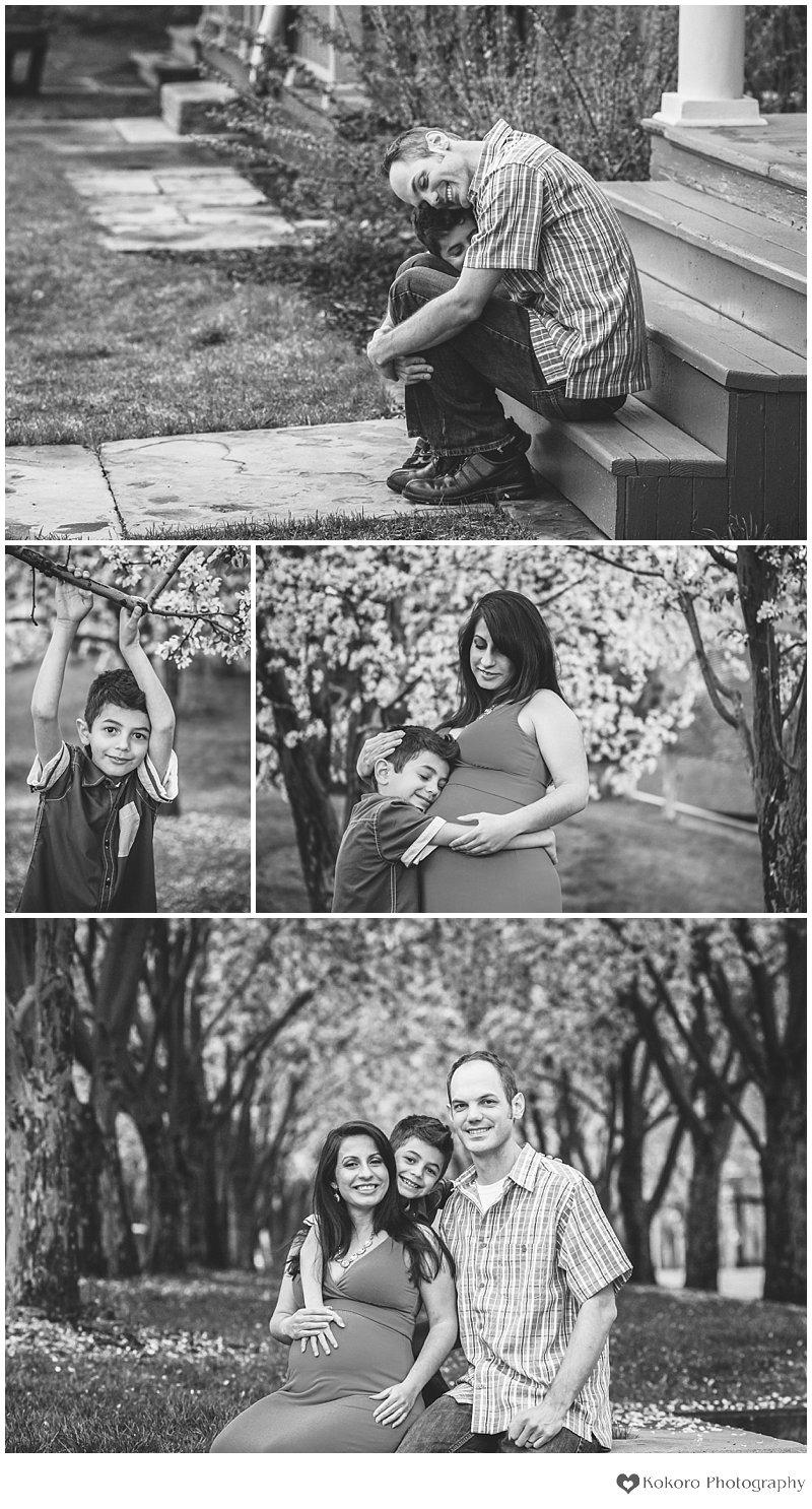 denver maternity, denver maternity photographer, colorado maternity photography, spring maternity session, blossoms maternity