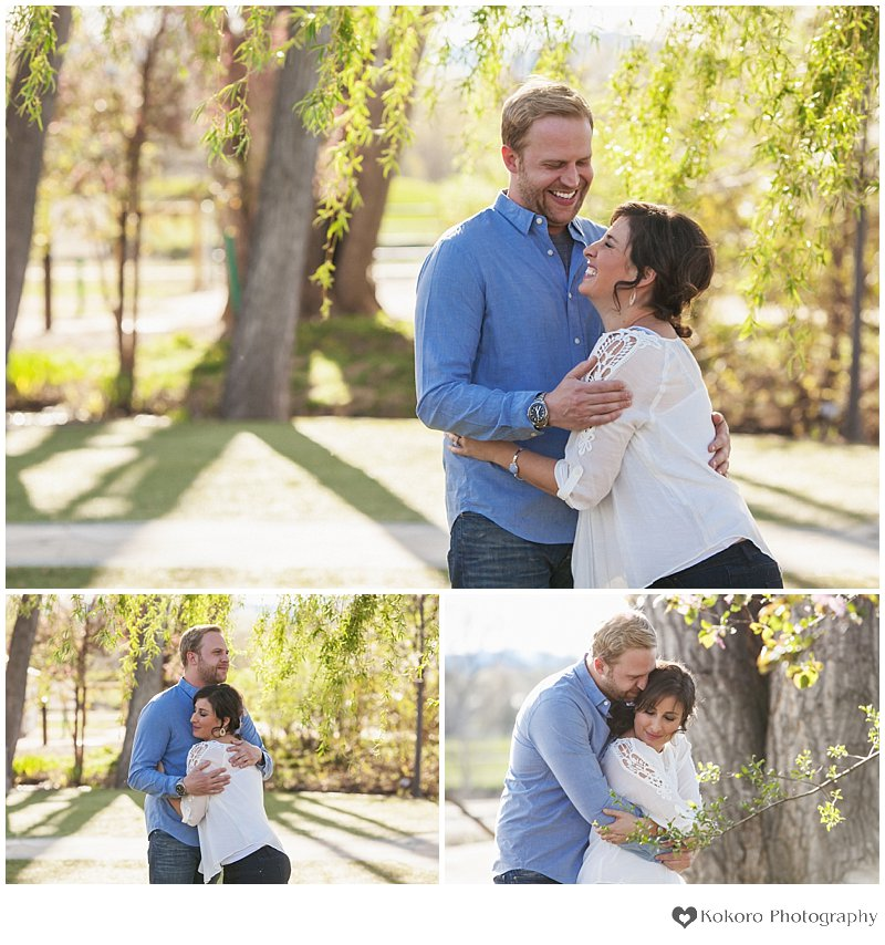 Spring engagement, Colorado wedding photographer, denver spring wedding, denver spring blossoms, hudson gardens