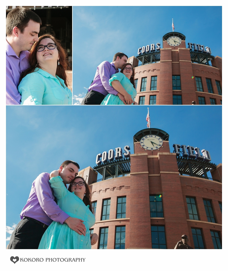 Engagement Session in Downtown Denver, Colorado by Kokoro Photography