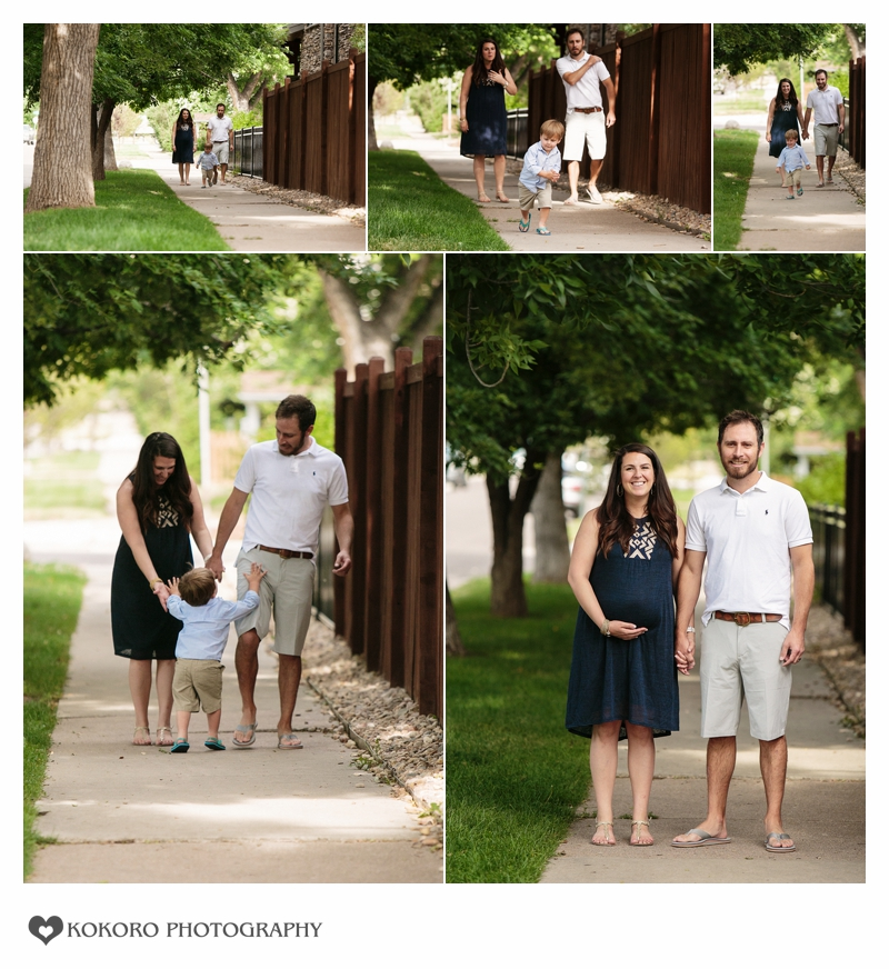 Maternity session at Pearl Street, Denver Colorado by Kokoro Photography
