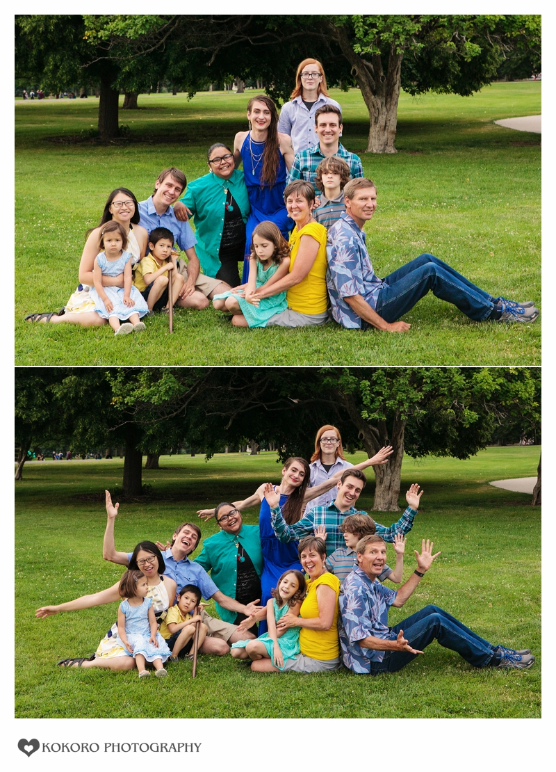 Family photography at Cheeseman Park in Denver, Colorado.