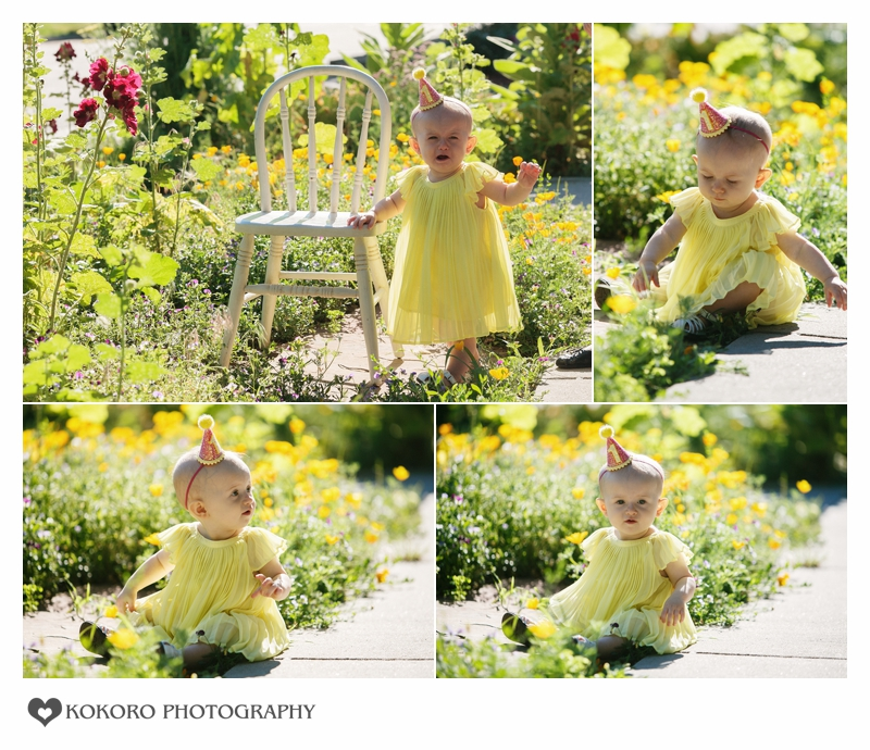 One year photography session at Pearl Street in Denver, Colorado
