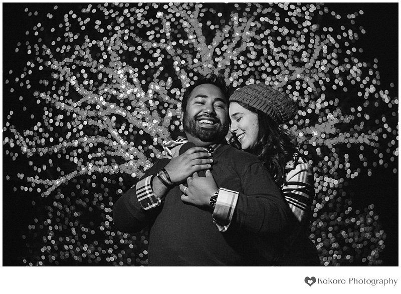 Colorado Botanic Gardens, Blossoms of Light, Denver Engagement Session, Winter Engagement Session, Kokoro Photography, Hudson Gardens, A Hudson Gardens Christmas, Christmas Light Engagement Pictures